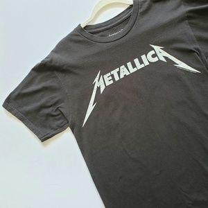 Metallica Black Graphic Band Tee T-shirt M Medium